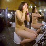 洗い場!ムッチリの2人組。美女ではないですが、触りたくなる体つき 潜入  110画像